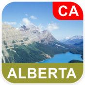 加拿大阿尔伯塔省, 离线地图 - PLACE STARS