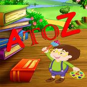 打印字母表动物从A到Z的着色页 1