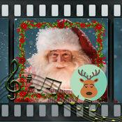 圣诞节伴随音乐的幻灯片 - 照片和视频制造商