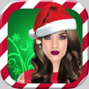 女生化妆小游戏 - 兒童 洋裝 对于 聖誕快樂 1