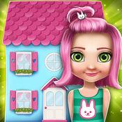我的娃娃屋装修设计:在我们的小宝宝游戏创建虚拟的梦想家园和房子装修女孩