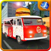 汉堡小贩卡车模...