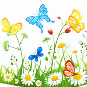 蝴蝶花彩色书游戏