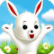 Bunny Hopper - 兔子料斗 - 跳转从瓷砖到白瓷砖,并拿起复活节胡萝卜没有自来水或摸空格
