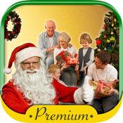 采取与圣诞老人的图片  高级