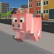塊狀城市豬模擬器3D