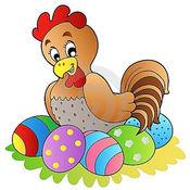 小黑:母鸡孵化