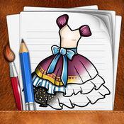 绘画 连衣裙 版 1