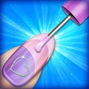 指甲彩绘设计游戏: 美甲工作室时尚女孩和指甲改造