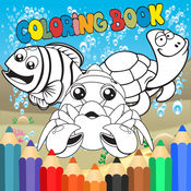 Sea Animal Coloring Book - 儿童涂鸦涂色画画板 HD