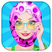 盖头妆容与风格教程 - 时尚服装的女孩Hijabi