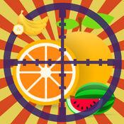 水果射击游戏的孩子