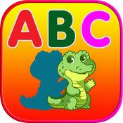 ABC动物阴影拼图 - 词汇测验游戏