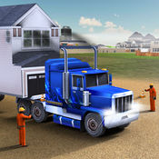 房子移动大卡车司机 - 卡车&停车
