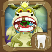 牙医龙. 孩子们的游戏 牙医游戏 照顾动物 宠物医生躁狂症