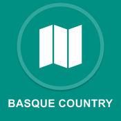 巴斯克地区,西班牙 : 离线GPS导航
