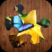 蝴蝶拼图益智游戏 - 惊人的蝴蝶益智游戏为孩子和学前学习