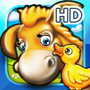 为儿童设计的免费版农场动物拼图