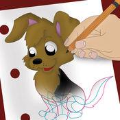 如何绘制狗和小狗容易