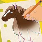 如何画马和农场动物