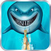 大型潜水与鲨鱼夜晚 - 饥饿的鱼的进化