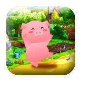 饥饿的小猪 - 帮助可爱的小猪获取猪肉的周!