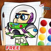 精细着色玩具总动员免费 1