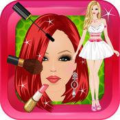 女孩派对打扮和化妆游戏