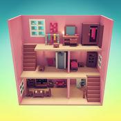 一个娃娃屋的装修:一个时尚游戏的女孩