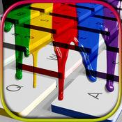 彩色键盘 – 试试这个主题同自定义键和美丽的背景 1