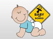 可爱的宝宝贴纸:期待父母