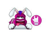 可爱的忍者兔贴纸2贴纸,设计:CandyASS