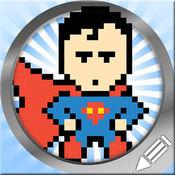 画画超级英雄的像素艺术 1