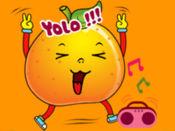 表情符号橘子贴纸