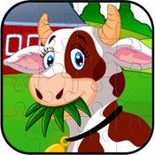 农场动物拼图益智有趣的免费游戏的孩子 1