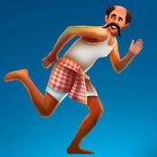 印度男子跑 - 危险的椰子树,跳跃的追求 - 免费版