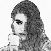 铅笔素描照片编辑器: 涂料美丽的复古照片就像一个艺术家 1