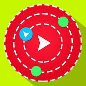 无限循环疯狂的圈子三原色圆形图