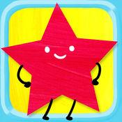 孩子们的形状拼图 - 圆形,三角形,矩形和更多!给于儿童和幼儿有关于形状和颜色的学习游戏的。