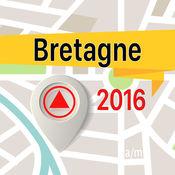 布列塔尼半岛 离线地图导航和指南 1