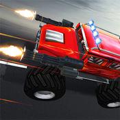 侵入卡车赛车矫枉过正:战斗和破坏赛车游戏