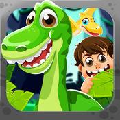 连 史前 动物. 游戏 的 连接 良好的恐龙 时代 为 孩子们 (Dinosaur Game) HD