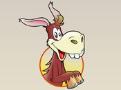 愚蠢的驴贴纸:做你自己的笑话!