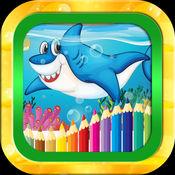 海洋动物图画书 -鯊魚·水下海洋动物的孩子 幼儿和学龄前