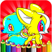 绘图绘画小狗 - 图画书狗场比赛为幼儿和儿童学龄前探险 1