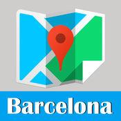 巴塞罗那旅游地铁gps零流量去哪儿西班牙世界地图 Barcelona metro map guide