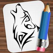画画 纹身狼 2