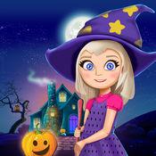 万圣节娃娃屋 儿童游戏: 设计和装饰你的虚家居的女孩