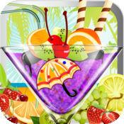 多汁的冰沙机 - 儿童准备使自己的雪泥冰沙冰块和丰富多彩