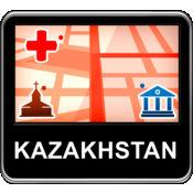 哈萨克斯坦 矢量地图 - Travel Monster